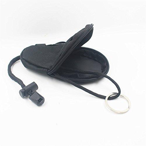 Sharplace Impermeabile Sacchetto Portachiavi Tattico Monete Sacchetto Accesorio Esterno - Nero Nero