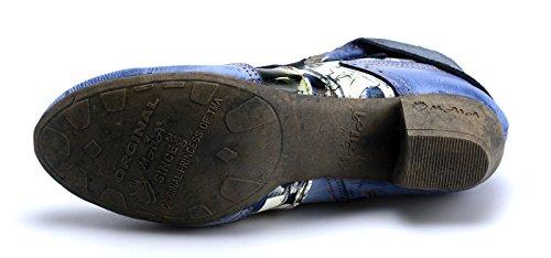 Couro De Tma Mulheres Botas Femininos Azul Das Sapatos 6188 gnWrXnZ6