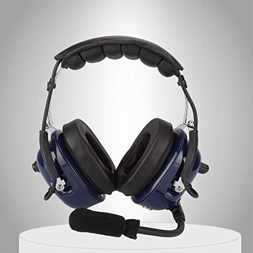 General Aviation Headset (Kafuty General Aviation Headset, Doppelstecker Piloten Kopfhörer, 3,5mm Rausch Unterdrückung Headset für Piloten und Adopt Windproof Foam, Mono Audio Lautsprecher, GA Doppelstecker usw.)