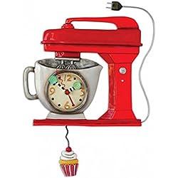 Allen Designs Vintage console RED Clock–Robot da cucina come orologio da parete