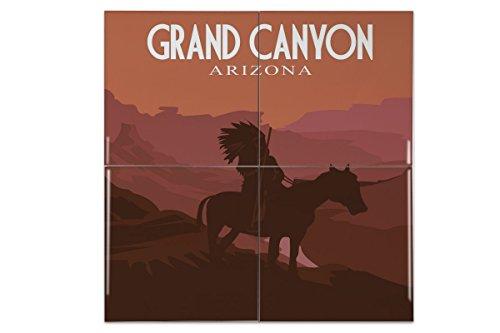 Fliese Kachel Abenteurer Grand Canyon Keramik bedruckt 15x15 cm - Canyon Keramik