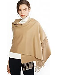 305bdd333a4 Winter Cashmere Wool Scarf Pashmina Shawl Wrap for Women Long Large Warm  Thick Reversible Scarves