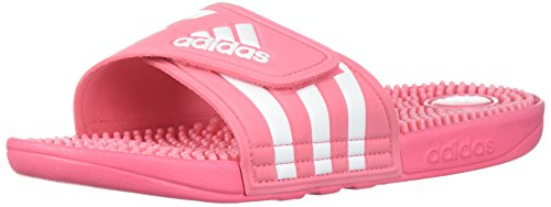 adidas - Adissage W, zum Hineingleiten, Sandale Damen, Pink (Chalk Pink/White/Chalk Pink), 39 EU -