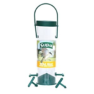 "Wild Bird 8"" / 4 Port Niger Seed Feeder by Supa"