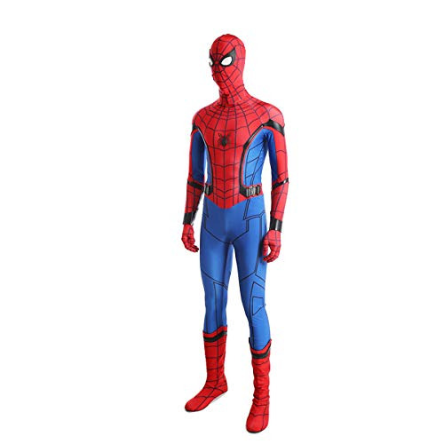 QWEASZER clothing Spider-Man: Homecoming Marvel Avengers 1: 1 Kostüm Deluxe Edition Peter Parker Superheld Cosplay Kleidung Kostüm Body Overalls Film Kleidung - Spiderman Kostüm Stiefel