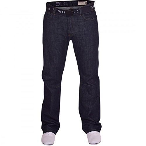 Mens Smith and Jones Bootcut Wide Bottom Hardwearing Fashion Denim Jeans