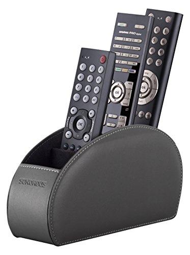 Sonorous Remote Holder Luxus Fernbedienung Halter, Holz, grau, 8 x 22 x 12,5 cm