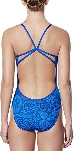 Nike Damen Badeanzug Geo Alloy Cut Out V-Rücken, Damen, Game Royal, 38 - Damen Nike Badeanzug
