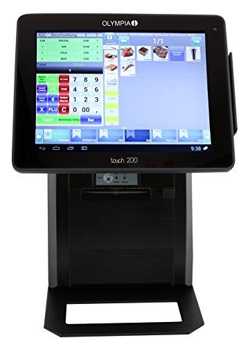 Olympia Touch 200 All-in-One Kassensystem (für Gastronomie und Handel Registrierkasse, Kasse Betriebssystem Android bis zu 384 Tische) schwarz