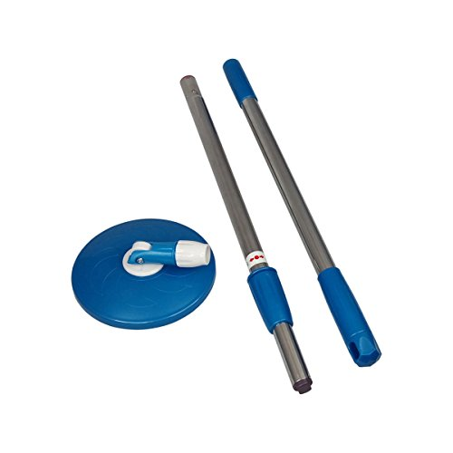 Primeway Magic Spin Mop 2 Section Twist Lock Handle Rod Set with Disc, Dark Blue  available at amazon for Rs.419