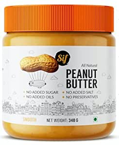 Sif Foods Unsweetened all Natural Peanut Butter - 340gm