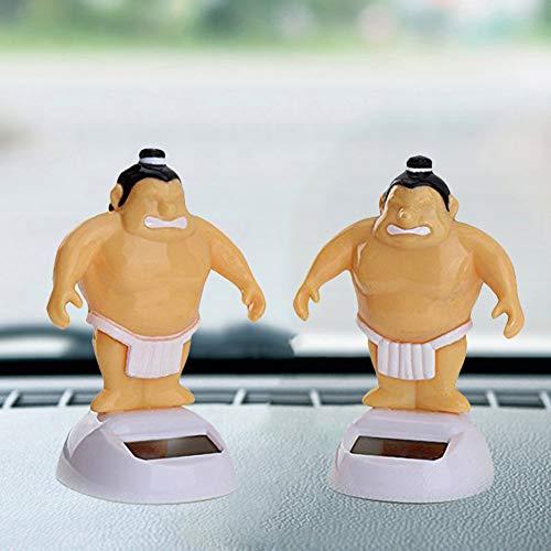 Preisvergleich Produktbild WFZ17 Lustiges Sumo Wrestler Solar Power Swinging Car Interior Armaturenbrett Ornament Geschenk Innenzubehör – 1