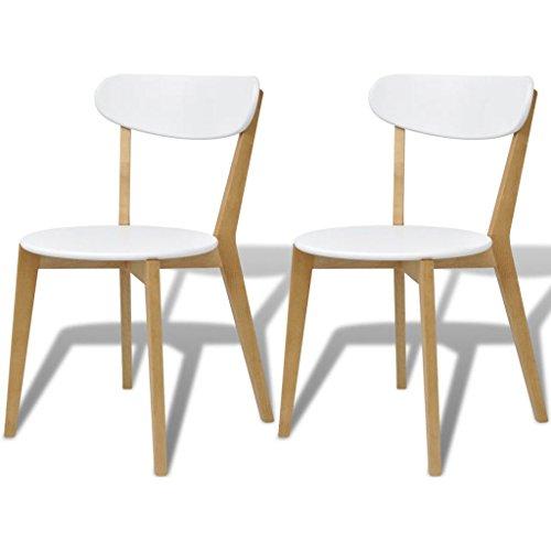 Festnight- Esszimmerstühle 2 STK Küchenstühle Wohnzimmerstuhl Stühle MDF und Birkenholz 50 x 45 x 79 cm