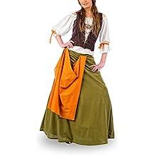 Traje medieval de Garzona - Agnes - Blusa Falda y corsé - S