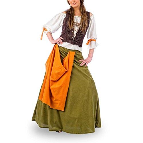Mittelalter Kostüm Magd - M (Englisch Kostüm Frau)
