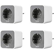 Osram EnchufeSmart –Juego de 4Enchufes Smart + Plug Gris, Plástico, Color blanco