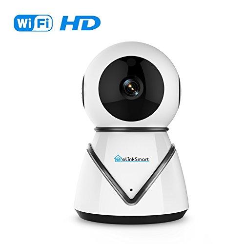 eLinkSmart Überwachungskamera Wifi IP Kamera Pan Tilt Zoom WLAN Kamera Innen Überwachungskamera Wifi Webcam mit 720P HD Nachtsicht Zwei-Wege-Audio Motion Detection