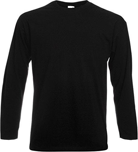 Fruit of the Loom Langarm T-Shirt 61–038–0 Gr. XL, schwarz - schwarz