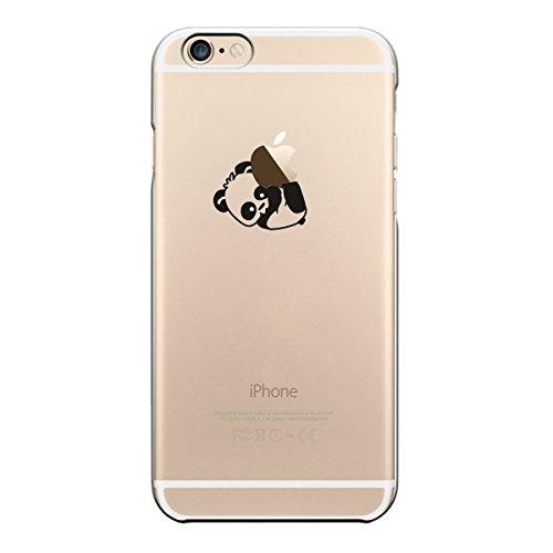 iPhone 5 5S SE cas par licaso® pour le modèle Panda 2 Ours Animal TPU 5 Apple iPhone 5S silicone ultra-mince Protégez votre iPhone SE est élégant et couverture voiture cadeau Panda 2