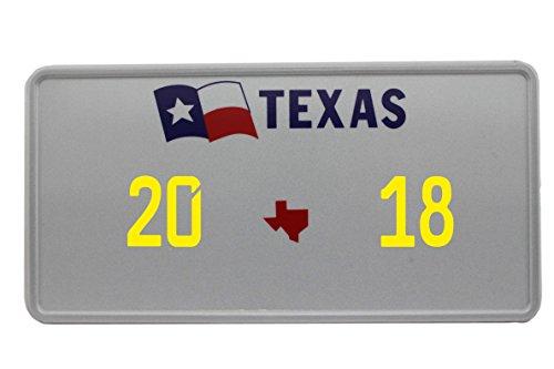 US Auto Kennzeichen STATE LICENSE PLATE Schilder USA Texas 2 mit Wunschprägung (gelb)