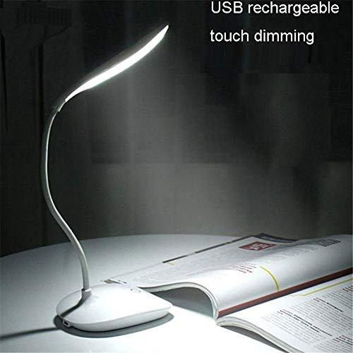 SaleON Rechargeable Led Touch Desk lamp, USB Charging led Book Light Touch dimming led Reading lamp 3brightness Bedside led Folding lamp Gift Camp Lighting Children Eye Protection (1298)
