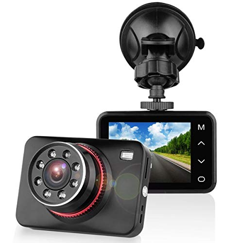 Dashcam Autokamera Full HD 1080P Dash Camera Auto SuperEye DVR Recorder mit 170° Weitwinkelobjektiv Bewegungserkennung WDR Parkmonitor G-Sensor ( Nachtsicht mit Infrarot)