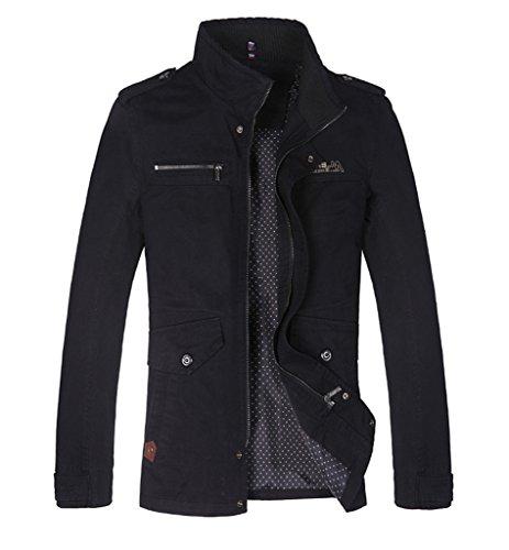 Purfeel Herren Jacke Gr. Large, Schwarz - Schwarz Plus-size-reversible Coat