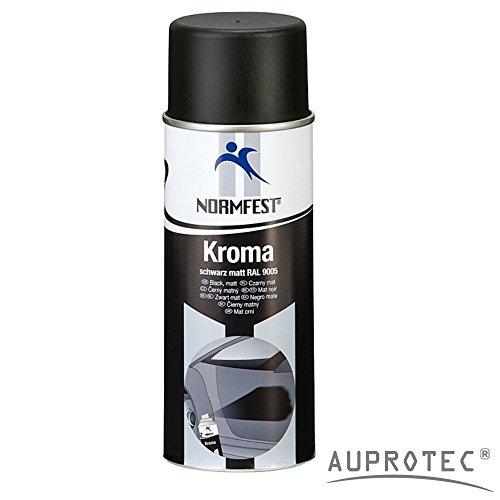Auprotec® Normfest Lackspray Autolack Schwarz Matt benzinfest Kroma Sprühlack Farb Spray 400ml (1 Dose)