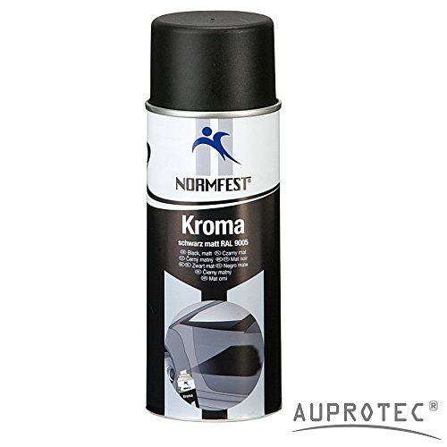 felgen lackspray Auprotec® Normfest Lackspray Autolack Schwarz Matt benzinfest Kroma Sprühlack Farb Spray 400ml (1 Dose)