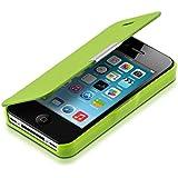 kwmobile Hülle für Apple iPhone 4 / 4S - Bookstyle Case Handy Schutzhülle Kunststoff - Flipcover Klapphülle Grün