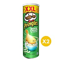 Pringles Sour Cream & onion Flavored Chips 200gm Dual Pack