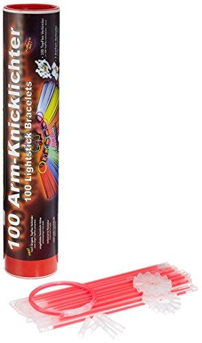 100 Knicklichter ROT Testnote: 1,4 \'SEHR GUT\' inkl. 100x TopFlex-, 2x Dreifach- und 2x Ball-Verbindern