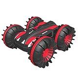 FREE TO FLY RC Auto,Offroad ferngesteuertes Auto 4WD,6CH 2,4 GHz Land Wasser 2 in 1 RC Spielzeugauto Multifunktions wasserdichte Stunt 1:16 Remote-Fahrzeug mit drehen 360 Elektroauto Spielzeug(Rot)