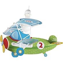 Dalber Baby Plane - Lámpara colgante, color verde