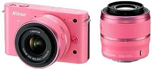 Nikon 1 J1 con Obiettivo VR 10-30 mm + VR 30-110 mm, Colore Rosa [Versione EU]