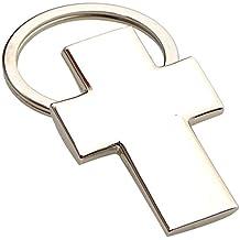 Mopec M639 - Llavero de metal con forma de cruz para comunión, pack de 10