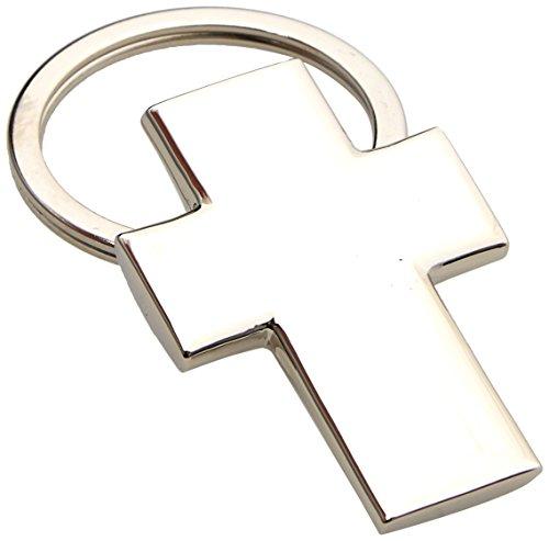 Mopec - portachiavi in metallo a forma di croce, rif. m639, confezione da 10pezzi