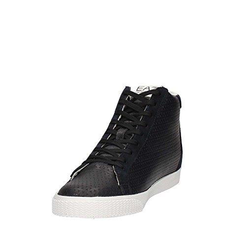 Emporio Armani EA7 scarpe sneakers alte uomo nuove pride nero Blu