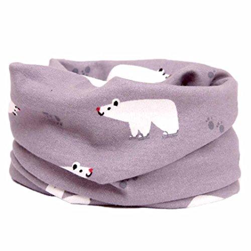 Fuibo Baby Schal, Herbst Winter Jungen Mädchen Kragen Baby Schal Baumwolle O Ring Halstücher (N)