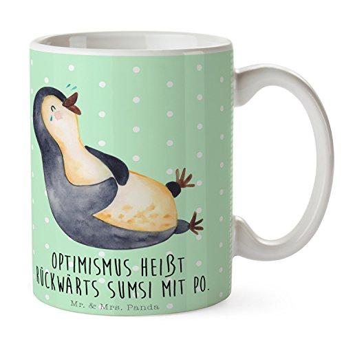Mr. & Mrs. Panda Tasse Pinguin lachend - 100% handmade in Norddeutschland - Teetasse, Schenken,...