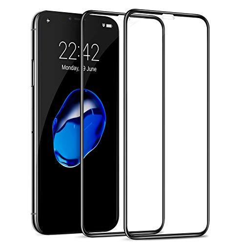 Tasikar iPhone XS Panzerglas/iPhone X Panzerglas [2 Stück] mit Einfache Installation-Tool Full Cover Premium Panzerglasfolie Displayschutz Kompatibel mit Apple iPhone XS (2018) / iPhone X (2017) Full Cover