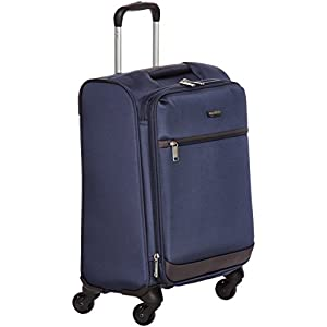 AmazonBasics Juego de maletas blandas giratorias, (53cm, 64cm, 74cm), Azul marino