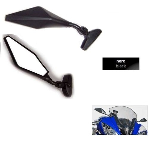 für Ducati 959 Panigale Paar VERKLEIDUNG MOTORRADSPIEGEL RÜCKSEITE WEIT SCHWARZ Mirror 6401+6402 MONTAGESATZ UNIVERSAL M.6 ENTHALTEN 226 Verkleidung