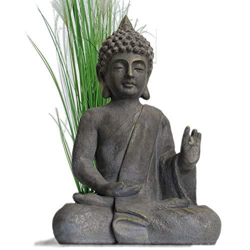 Stein Buddha Antik massiv Steinfigur