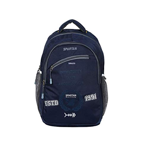 Drazo 35 Liters Navy Good Quality Backpack with Laptop Compartment. Image 2
