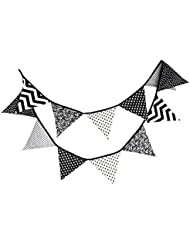 10,5 pieds fanion bannière drapeau en plein air décoration tente triangle drapeau noir