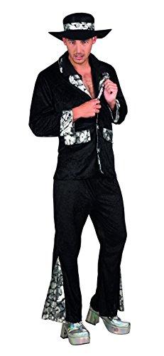 Kostüm 83623 - Pimp, schwarz (Kostüm Hut Zubehör Pimp)