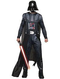 Star Wars Darth Vader Costume hommes 3 pièces salopette Cape masque noir