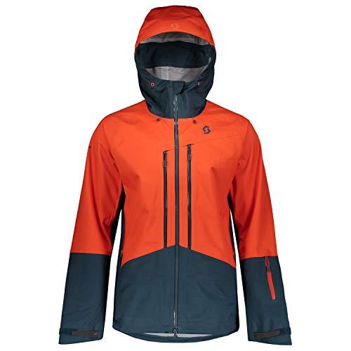Scott Herren Explorair 3L Jacke, Tangerine Orange/Nightfall Blue, XL Orange Snowboard-jacke