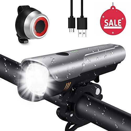 Lumière Vélo, Set Lampe Vélo LED USB...